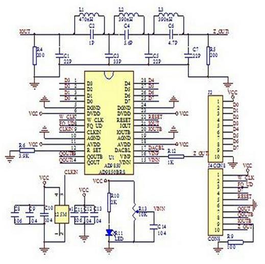 AD9850 module schematic